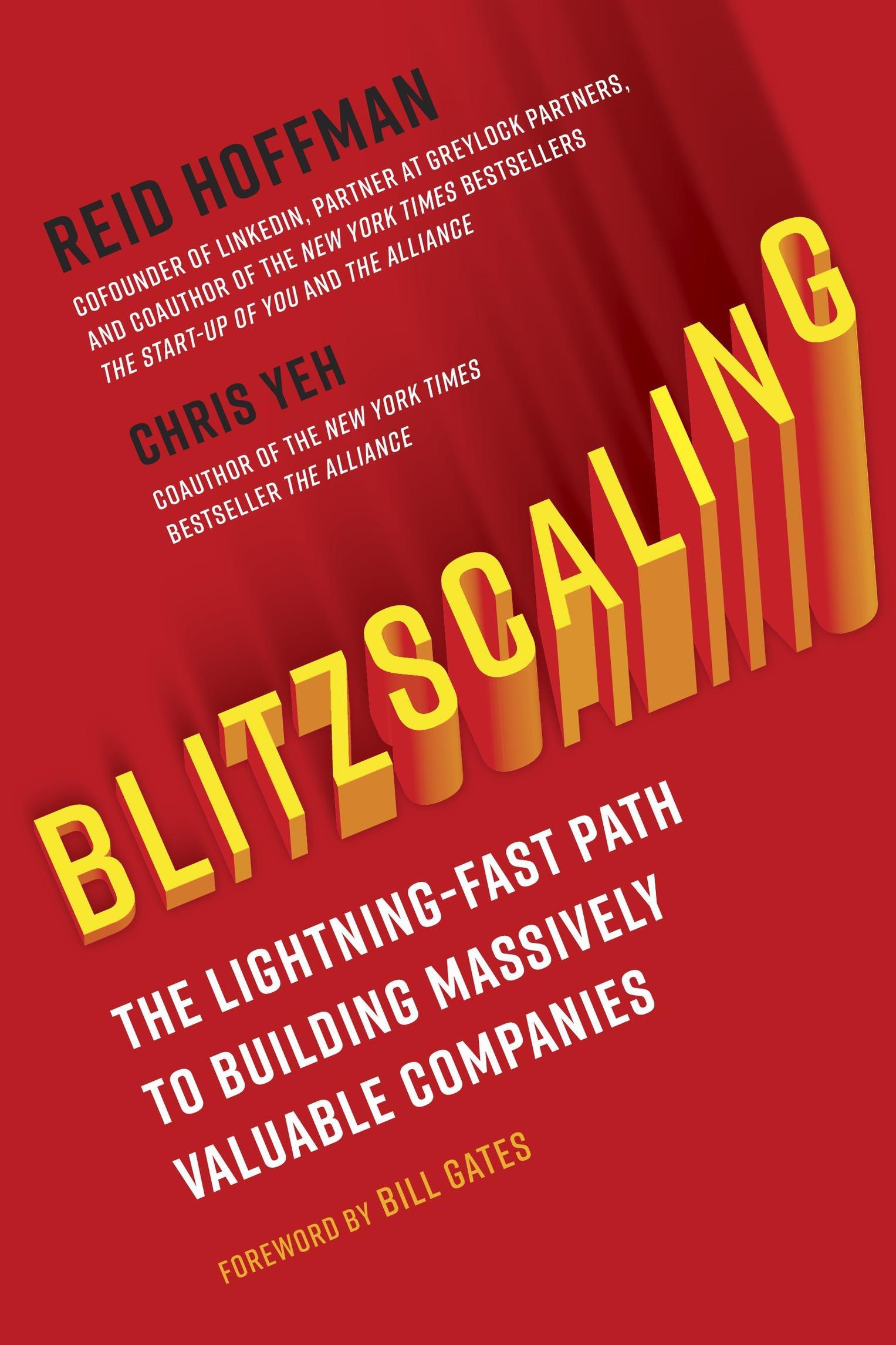 Blitzscaling Book By Reid Hoffman, Chris Yeh, Bill Gates PDF