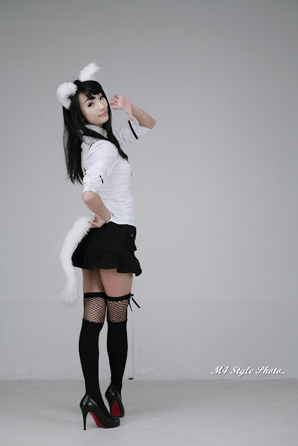 4 Im Soo-Yeon – Black and White - very cute asian girl-girlcute4u.blogspot.com