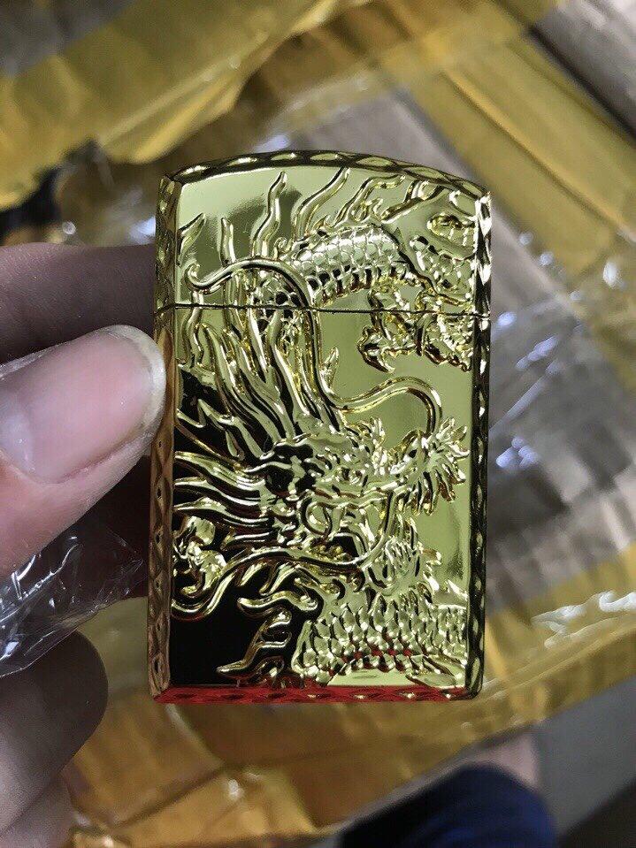 24k - Zippo Rồng Đúc Nổi xài gas lửa khè giá sỉ và lẻ rẻ nhất