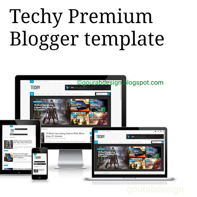 techy tech life blogger template