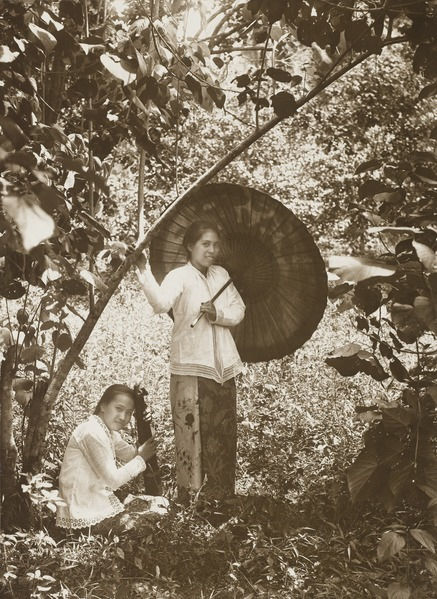 foto foto perempuan jaman dulu saat mengenakan kain jarik