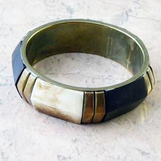 Contemporary style bone bangle chunky