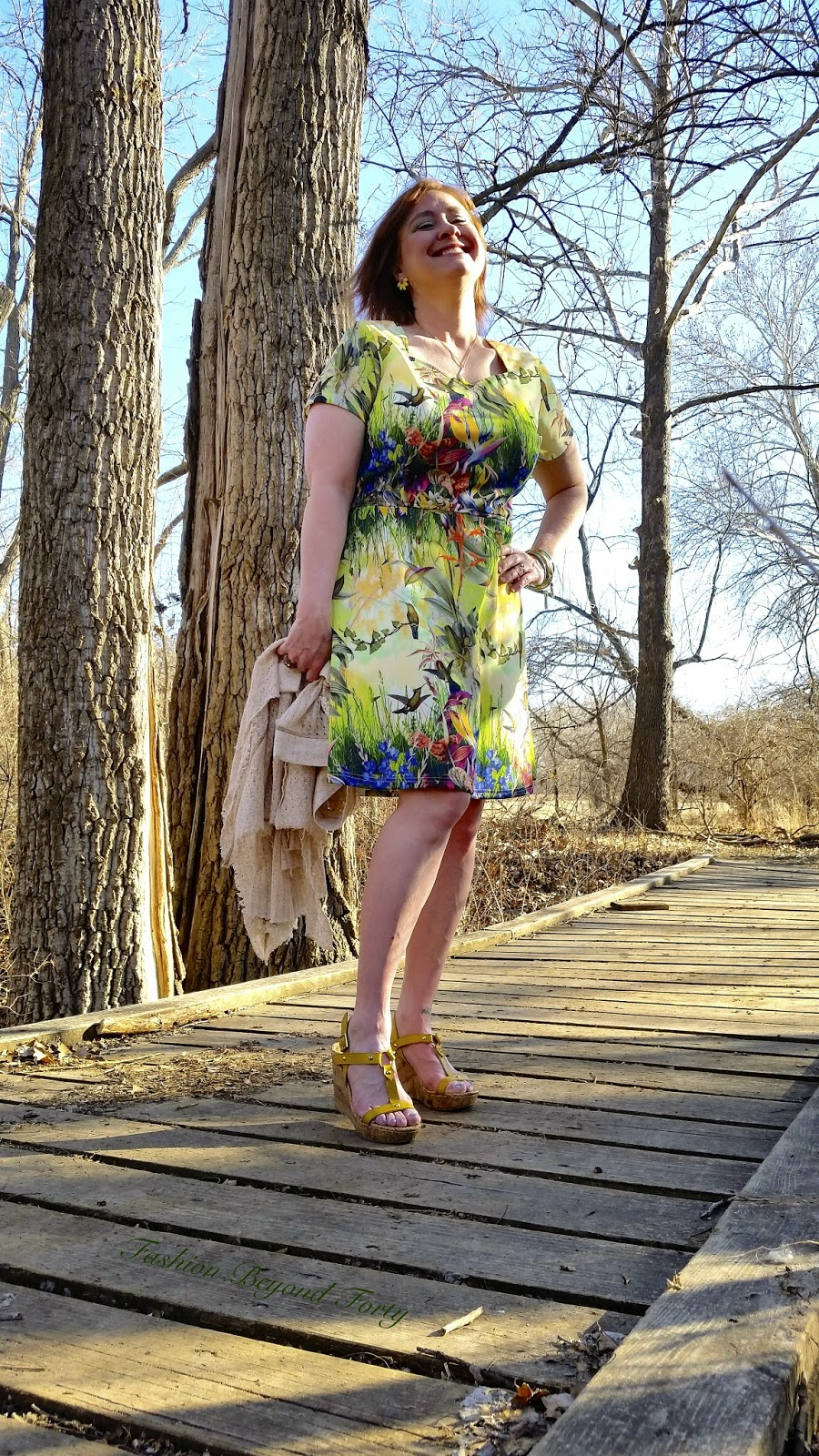 Fantasy Bird Dress from eShakti on Fashion Beyond Forty