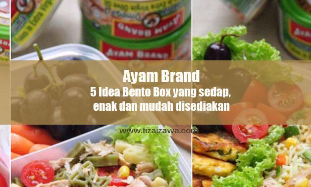 5 Idea Bento Box yang sedap, enak dan mudah disediakan daripada Ayam Brand