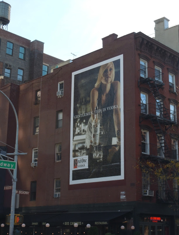 Ketel One Gentlemen billboard NYC