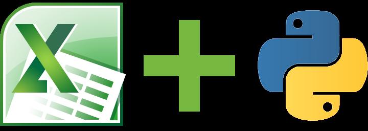 Excel Logo Plus Python Logo