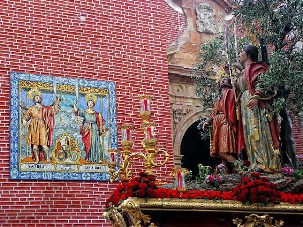 Horario e Itinerario ongregación de los Santos Patronos Ciriaco y Paula. Málaga 16 de Junio del 2019