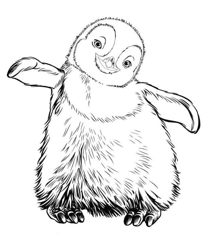 Desenhos Para Pintar E Imprimir Desenhos De Pinguins Para Colorir