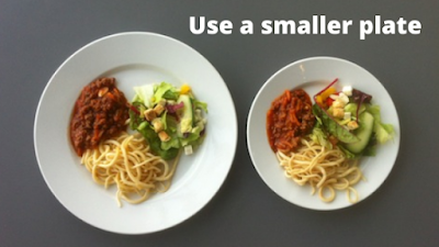 Use a smaller plate