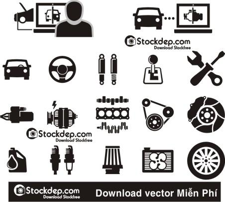 Vector Cửa Hàng Phụ Kiện ôtô các loại