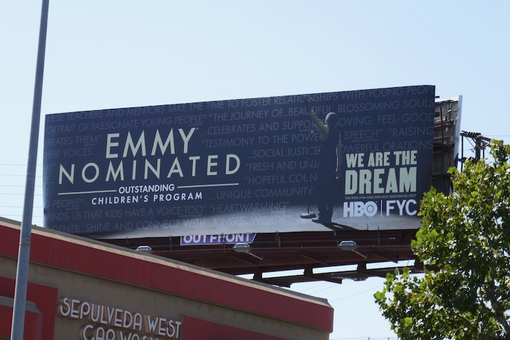 We Are The Dream Emmy nominee billboard