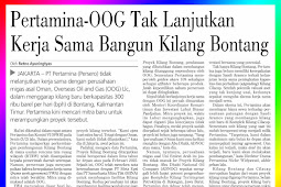 Pertamina-OOG Discontinues Cooperation in Build Bontang Refinery