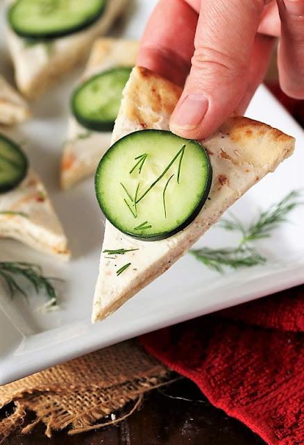 Serving Cucumber Pita Bites Image