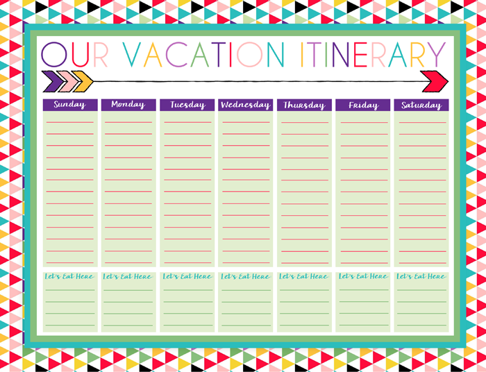 Vacation calendar images reverse search for Trip calendar planner template