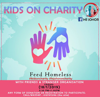 HS Johor 2019 Feed Homeless Charity Program