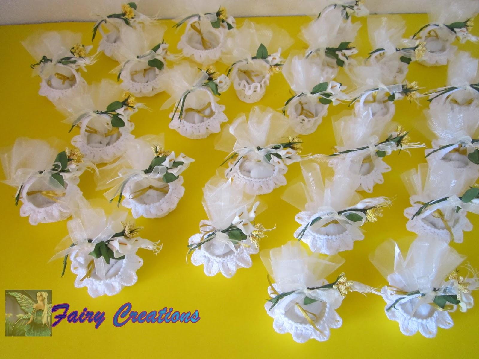 Eccezionale fairy creations: bomboniere all'uncinetto, cestini all'uncinetto QY73
