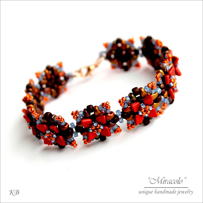 bransoletka ze smoczą łuską, bracelet with dragon scale beads