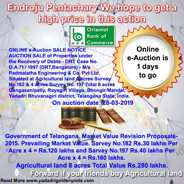 DRT-1 Hyderabad Online e-Auction Sale 1 days to go