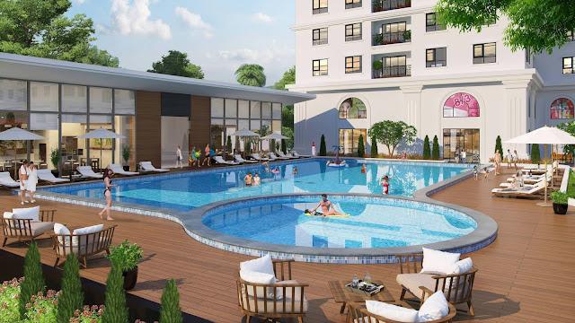Bể bơi chung cư Eco Lake View
