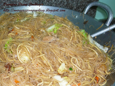 Pansit Bihon at Canton Guisado - Cooking Procedure