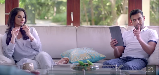 ndian and Pakistani stars Sania Mirza and Shoaib Malik have a difficult cross-country marriage to manage and a new Nestle ad banks on just that.  In the ad made for Pakistan, the celeb couple are shown disagreeing on everything, seeking to gain an upper hand for their country.