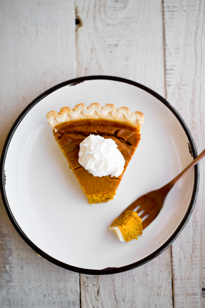 Vegan Pumpkin Pie slice