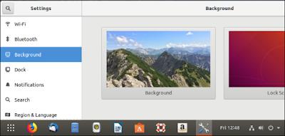 Latar belakang layar kunci Ubuntu