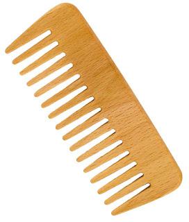peine madera cabello rizado