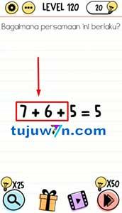 Level 120 Bagaimana persamaan ini berlaku? brain test