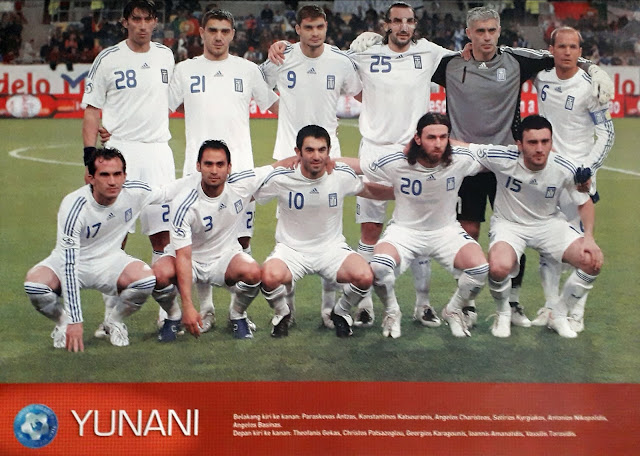 GREECE FOOTBALL TEAM SQUAD 2007
