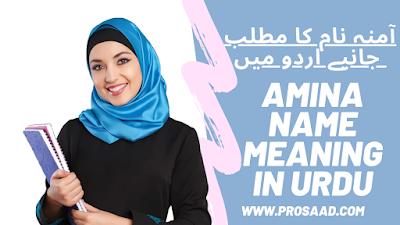 Amina Name Meaning & Amina Name full Detail In Urdu