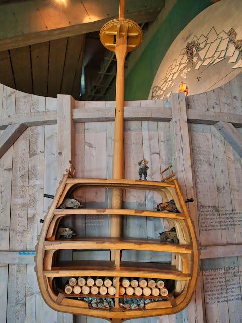 jiemve, Vasa, bâteau, musée, coupe latérale