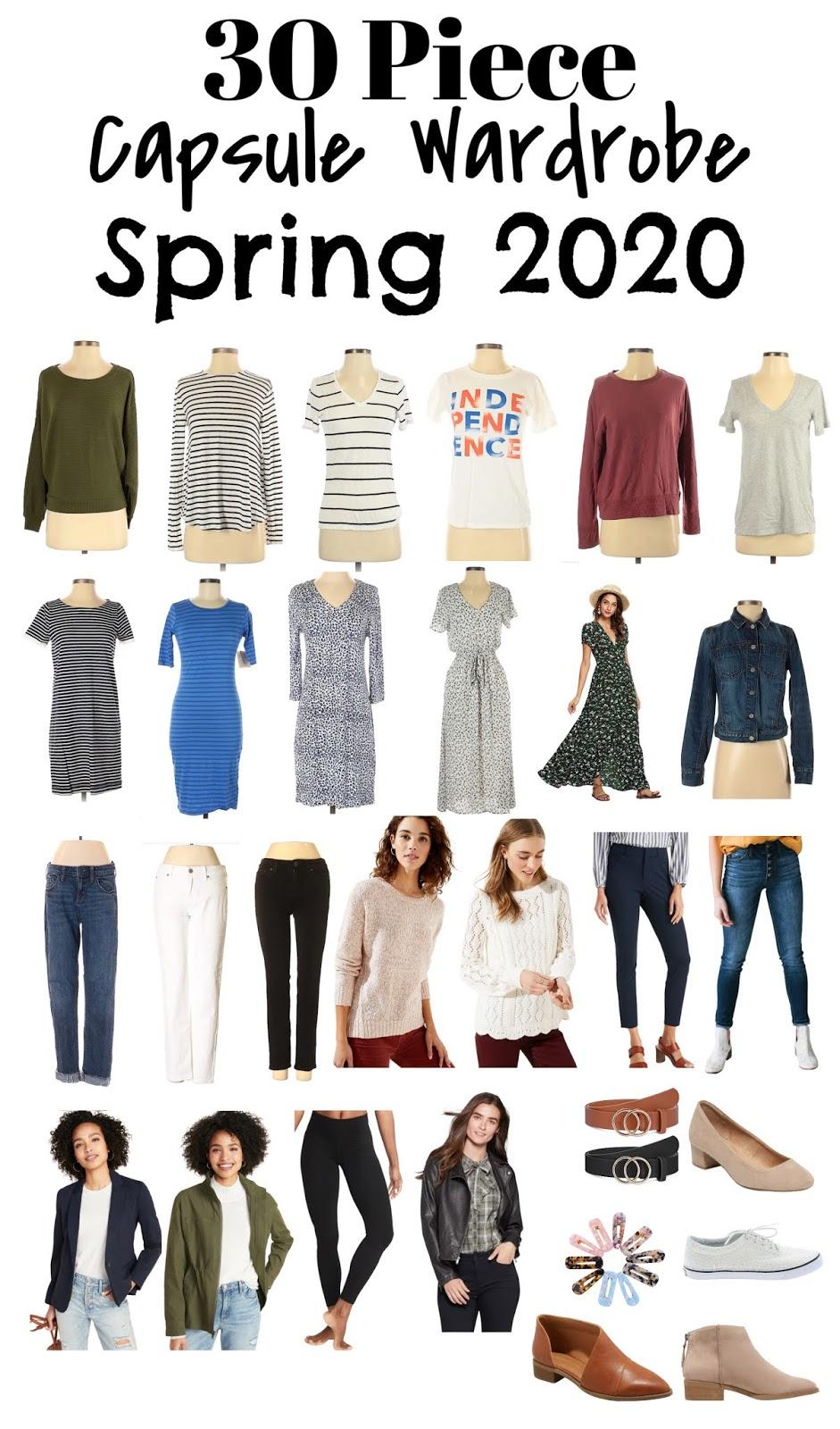 Capsule wardrobe 2020 checklist. Classic capsule wardrobe 2020. Capsule wardrobe spring 2020. Spring 2020 capsule wardrobe.  #minimalism #spring #clothing #fashion #capsulewardrobe #30piececloset #closet