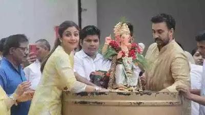 Shilpa Shetty dance with husband and son in Ganpati Vijsarjan