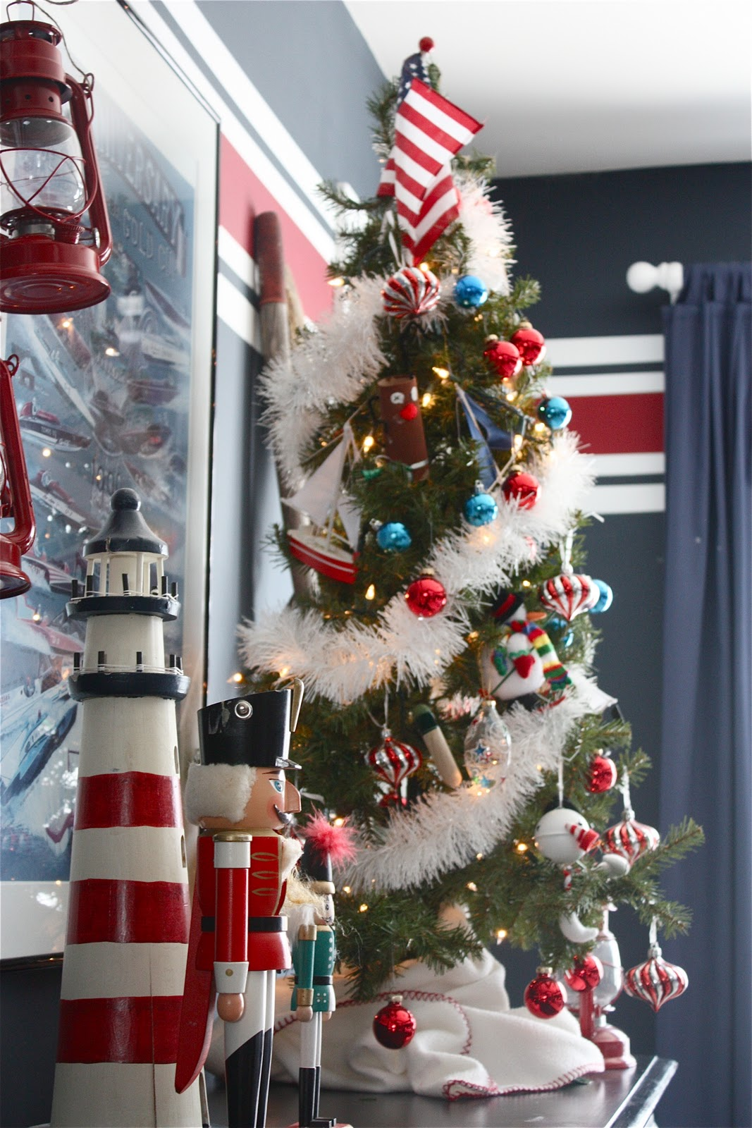 Nautical Christmas Theme.The Yellow Cape Cod Holiday Home Series Nautical Christmas