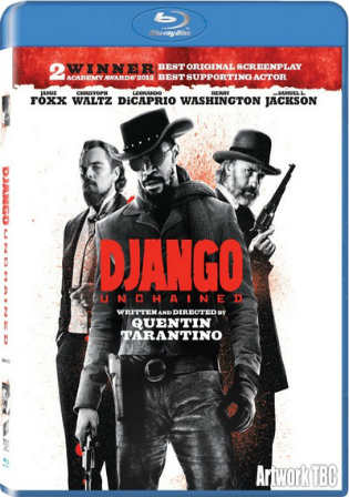 Django Unchained 2012 BRRip 500MB Hindi Dubbed Dual Audio 480p