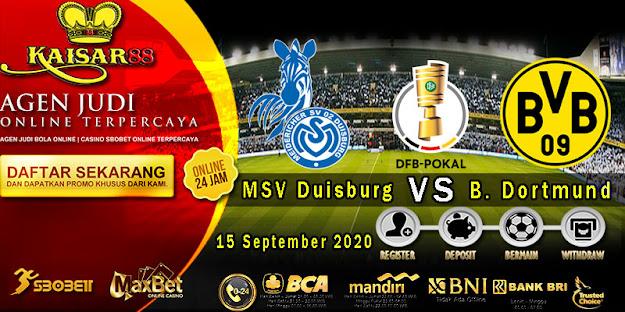 Prediksi Bola Terpercaya Liga German Cup Duisburg vs B. Dortmund 15 September 2020