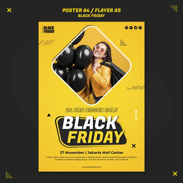 Black Friday Sale Flyer PSD Template