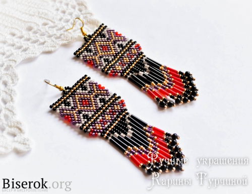 A Beaded Fringe Earrings Tutorial With Square Look