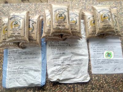 Benih padi yang dibeli HUDI Lamongan, Jatim. (Sebelum packing karung ).