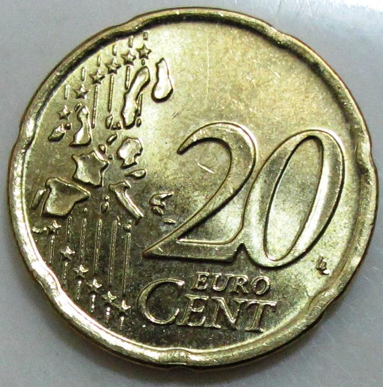 2002 Greece 20 Euro Cent