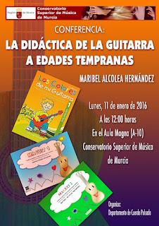 conferencia guitarra para niños conservatorio