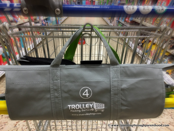 Trolley Bags neatly hung on trolley