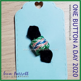 Day 199 : Enfold - One Button a Day 2020 by Gina Barrett