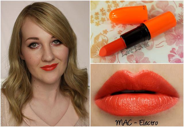 MAC Electro lipstick swatch