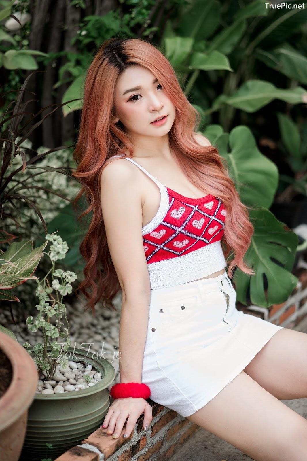 Image Thailand Model - JaJaa Zarinyap - Crop Top and Sort Pants - TruePic.net - Picture-3