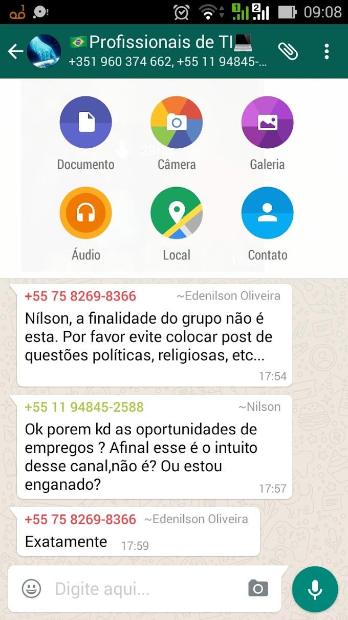 WhatsApp libera atualização para usar compartilhamento de arquivo