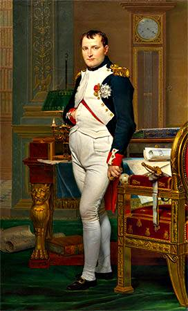 emperador Napoleón en su estudio en las Tullerías