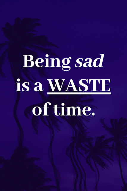 Don't Waste Time Being Sad.