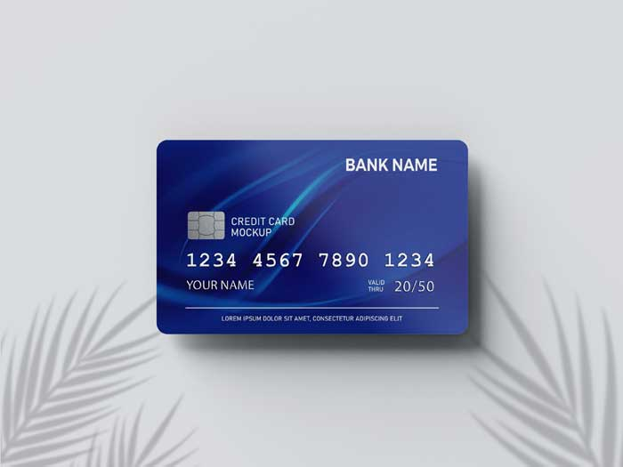 Credit Card Close Up PSD Mockup